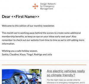 DNEM newsletter December 2019